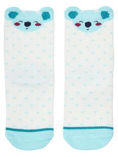 Chaussette bébé fille blanche avec koala JYICLOCHO / 20SI0911SOQ001