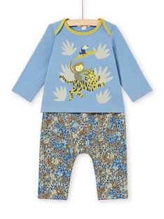 Ensemble T-shirt et pantalon à motifs animaux de la jungle bébé garçon MUKAENS / 21WG10I1ENS020