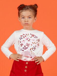 T-shirt manches longues réversible motif cerises enfant fille MACOMTEE1 / 21W901L1TML001