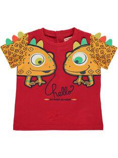 Tee-shirt manches courtes bébé garçon CUGAUTI2 / 18SG10L2TMCF513