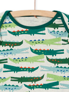 Pyjama enfant garçon en côte imprimé crocodile LEGOPYJCROC / 21SH1211PYJA010
