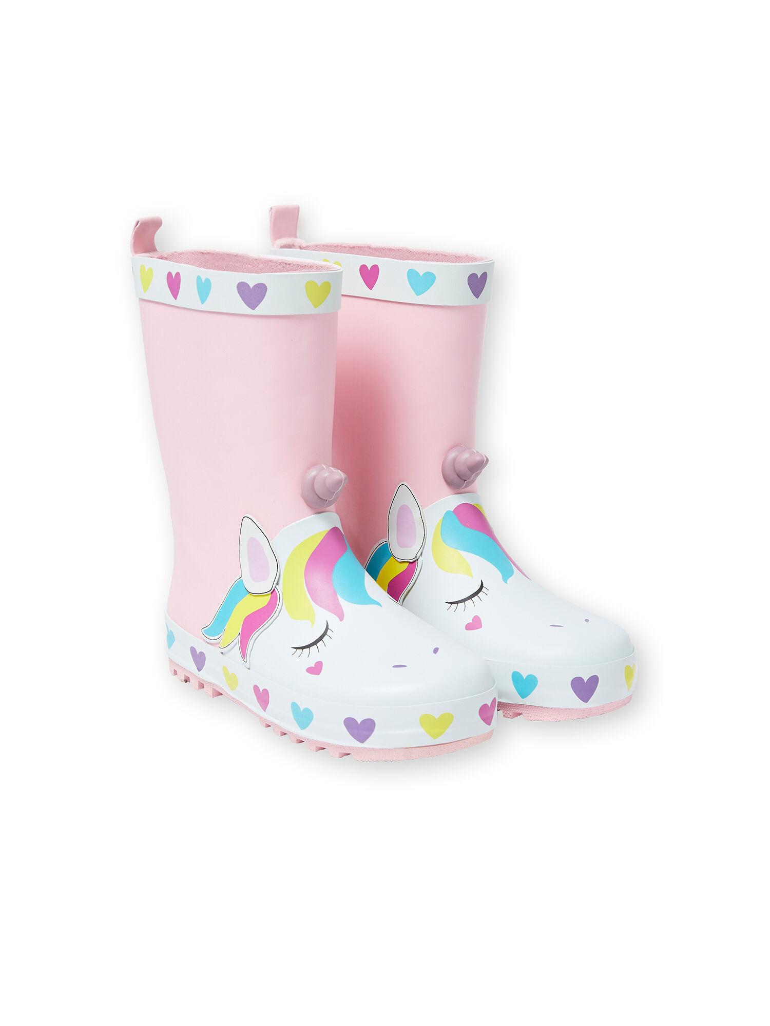bottes de pluie fourrées fille 26