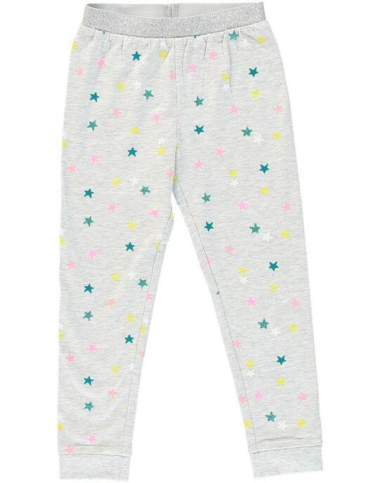 Pyjama gris chiné licorne enfant fille JEFAPYJLIC / 20SH11C2PYJ943