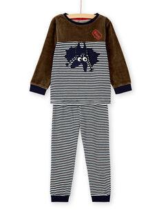 Pyjama enfant garçon motif chauve-souris KEGOPYJBAT / 20WH12CAPYJ604