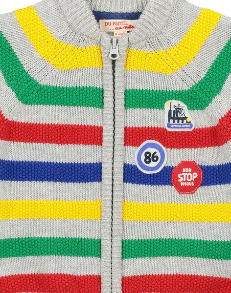 Gilet zippé en laine bébé garçon FUCOGIL / 19SG1081GIL099