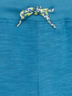 Bermuda garçon en molleton bleu  JOBOBER1 / 20S902H3BER215