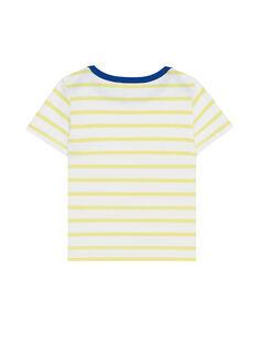 Tee Shirt Manches Courtes Jaune JUJOTI4 / 20SG10T4TMC114