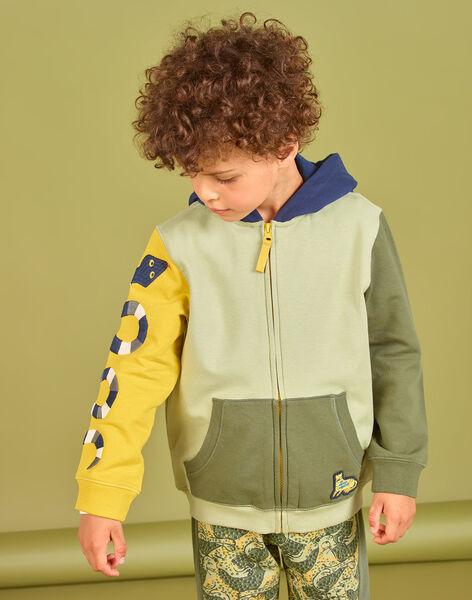 Sweat à capuche color block enfant garçon MOKAGIL / 21W902I1GIL612