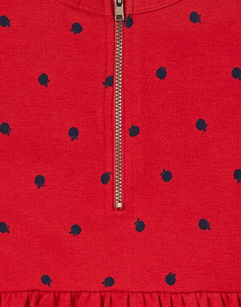 Robe en milano à manches courtes, imprimé pomme KAJOROB6 / 20W90131ROB408
