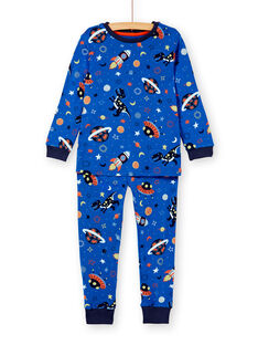 Pyjama enfant garçon imprimé phosphorescent espace KEGOPYJAOP / 20WH12I1PYJC231