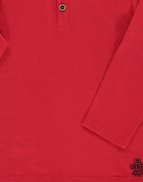 Tee-shirt manches longues col tunisien garçon DOJOTUN1 / 18W90231D32F508