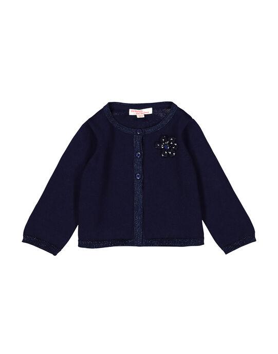 Gilet bleu marine bébé fille FIJOCAR3 / 19SG0933CARC205