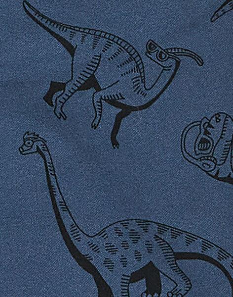 Pantalon bleu marine imprimé enfant garçon. KOREPAN / 20W902G1PAN705