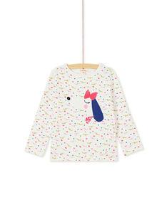 T-shirt manches longues imprimé chien et tête de chien multi-technique KARETEE4 / 20W901G2TML001