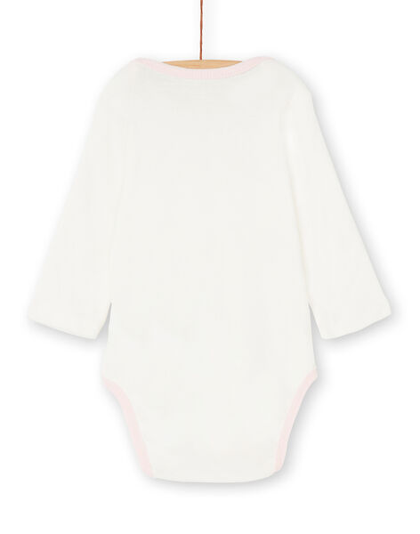 Body manches longues layette fille motif chat KEFIBODCHA / 20WH1396BDL001