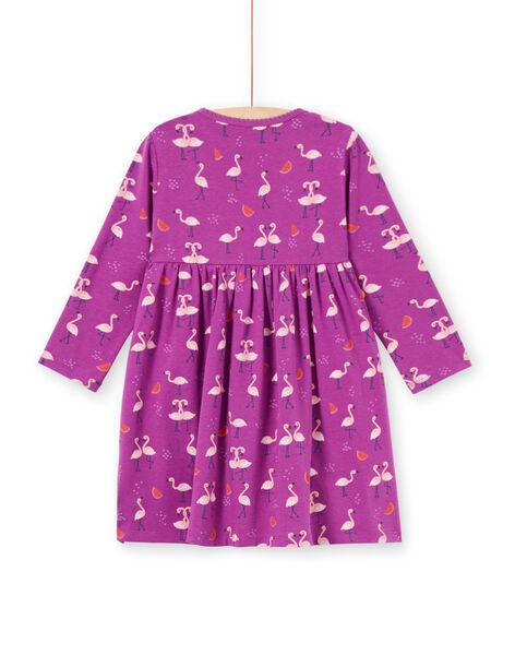 Chemise de nuit violette flamants roses et pastèques enfant fille MEFACHUFLA / 21WH1131CHN712
