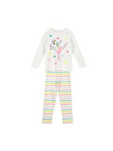 Pyjama en coton fille FEFAPYJLIC / 19SH1193PYJ000
