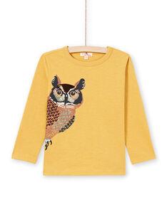 T-shirt jaune enfant garçon MOSAUTEE1 / 21W902P3TMLB107