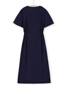 Robe longue manches courtes brodée femme LAMUMROB2 / 21S993Z2ROBC211