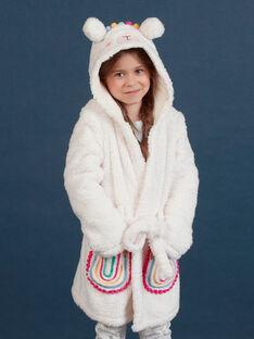 Robe de chambre lama et arc-en-ciel sherpa enfant fille MEFAROBLAM / 21WH1191RDC001