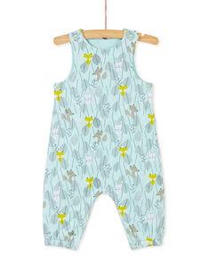 Salopette longue bleue bébé garçon KUBOSAL2 / 20WG10N2SAL001
