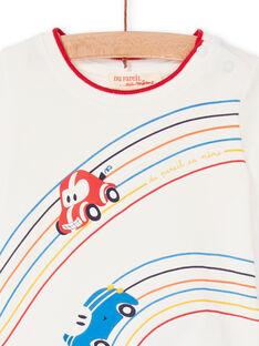 Tee Shirt Manches Courtes Ecru LUHATEE1EX / 21SG10X1TMC001