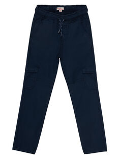 Pantalon  élastiqué avec poches cotés marine JOJOPAMAT1 / 20S90254D2B705