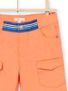 Bermuda garçon en rib stop orange JOMARBER2 / 20S902P2BERE405