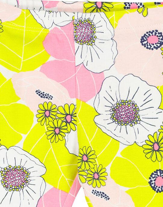 Legging à fleurs bébé fille FYIPOLEG / 19SI09C1CAL099