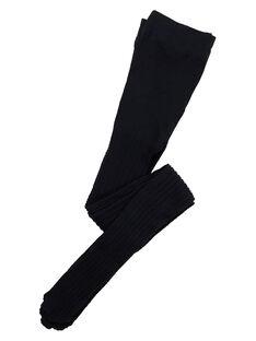 Collant fille en polyamide noir avec torsade JYAESYCOL1 / 20SI0166COL090
