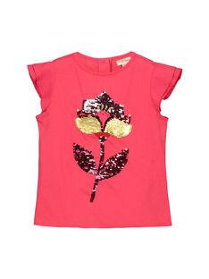 Tee-shirt à sequins fille FACATI1 / 19S901D1TMC302
