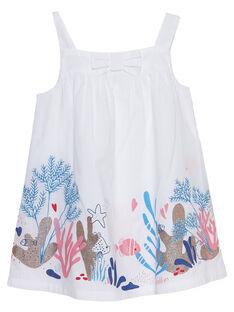 Robe blanche bébé fille JICEAROB2 / 20SG09N3ROB000