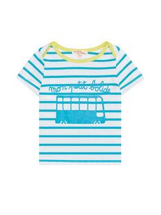 Tee Shirt Manches Courtes Bleu JUJOTI1 / 20SG10T3TMCC242