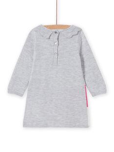 Robe en maille motif fantaisie bébé fille MIPLAROB2 / 21WG09O2ROBJ920
