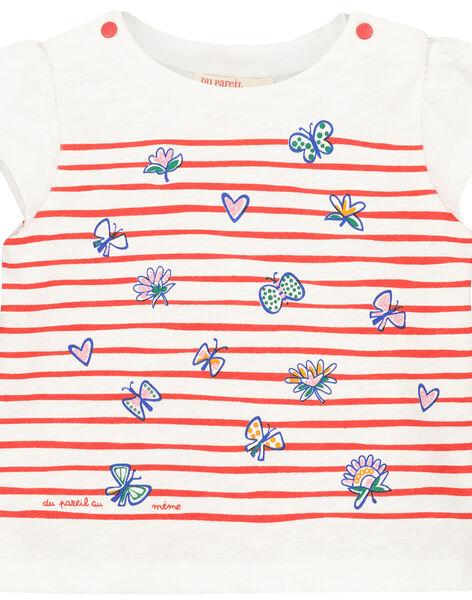 Tee-shirt manches courtes imprimé bébé fille FITOTI2 / 19SG09L2TMC000