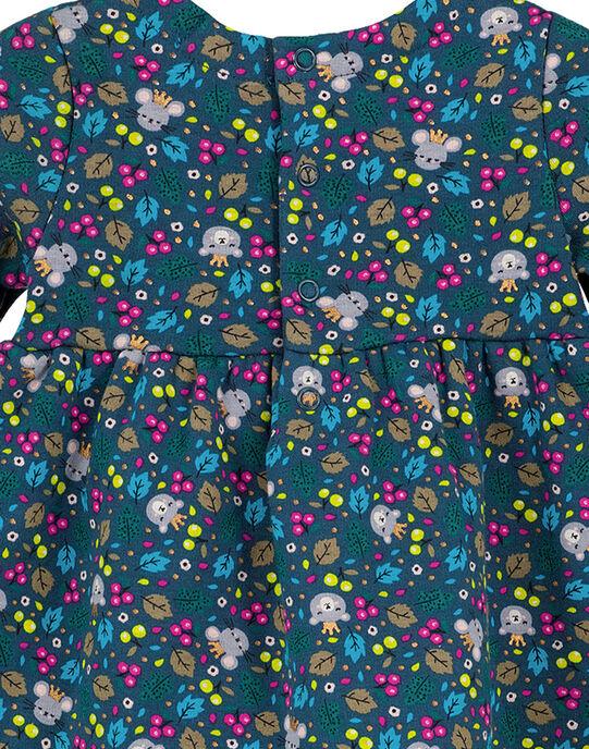 Robe imprimée toute douce à l'interieur layette fille GITUROB2 / 19WG09Q1ROB714