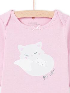 Body manches longues parme à motifs chats bébé fille MEFIBODMAM / 21WH13B5BDLH702