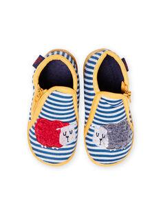 Chaussons gris chiné à rayures motifs moutons bébé garçon MUPANTSHEEP / 21XK3832D0A943