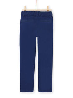 Pantalon bleu marine enfant garçon MOESPACHI1 / 21W902E2PAN070