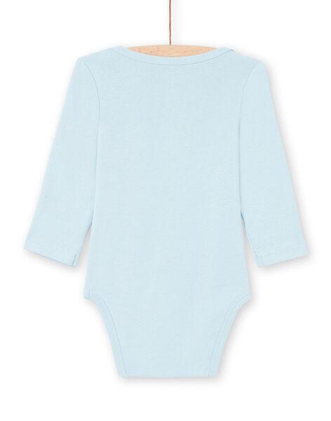 Body manches longues bleu à motifs éléphants bébé garçon MEGABODELE / 21WH14B2BDL222