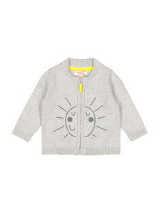 Gilet zippé gris bébé garçon FUJOGIL1 / 19SG1031GILJ908