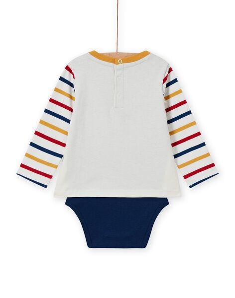 Body T-shirt motifs moutons multicolores bébé garçon MUMIXBOD2 / 21WG10J1BOD001