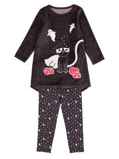 Chemise de nuit velours et legging jersey Halloween enfant fille GEFACHUHAL / 19WH11N1CHNJ912
