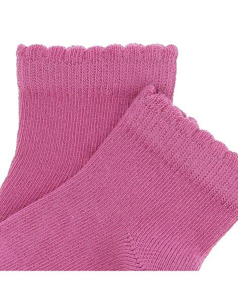 Chaussettes basses roses bébé fille CYIJOCHO8B / 18SI09S4SOQ308