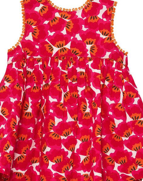 Robe portefeuille rouge imprimée bébé fille JIVIROB1 / 20SG09D1ROBD327
