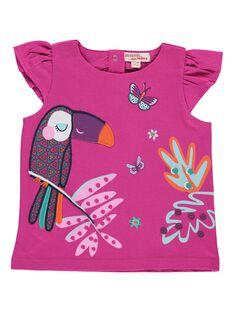 Tee-shirt manches courtes bébé fille CIGAUTI / 18SG09L1TMC304