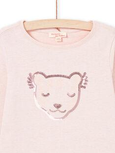 T-shirt rose enfant fille MAJOYTEE2 / 21W90114TMLD314