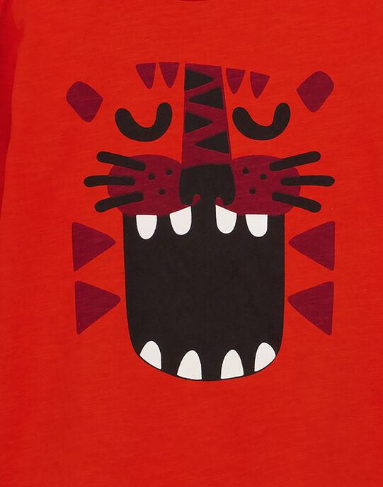 Tshirt Manches Longues col Rond Orange GOJOTISLU6 / 19W90248D32405