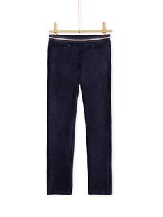 Pantalon en velours maille, taille élastiqué en lurex KAREPANT / 20W901G1PAN070