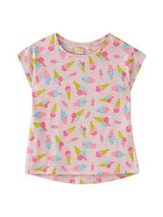 T-shirt manche courte, imprimé glaces à l'italienne  JAJOTI7 / 20S901T6D31301
